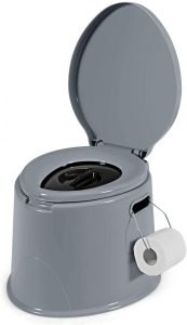 Giantex Portable Travel Toilet with Detachable Inner Bucket and Removable Toilet Paper Holder