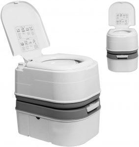 TPS Power Sports Portable Toilet Flushing Splash-Free Dumping Camping Toilet
