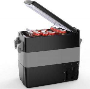 BougeRV 12Volt Portable Car Refrigerator 53 Quart Fridge Freezer